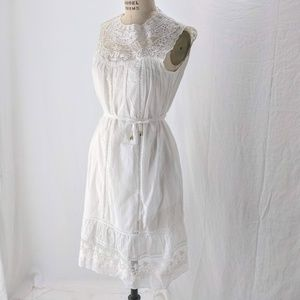 LUSIO WHITE LACE DRESS NWT